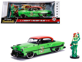 "1953 Chevrolet Bel Air Green and Red Top with Poison Ivy Diecast Figure ""DC Com - $40.90"