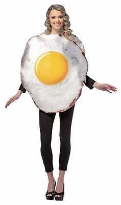 Egg Fried Adult Costume Food Halloween Party Unique Cheap GC6811