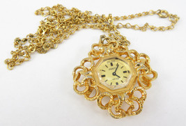 Vintage Swiss Made Brian 17 Jewels Incabloc Necklace Pendant Lady Watch - $25.00
