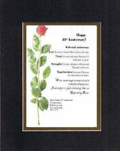 Personalized Touching and Heartfelt Poem for Anniversries - Happy XXth Anniversa - $19.75