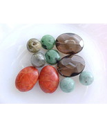 Beads DIY Earrings Smoky Quartz Sponge Coral Ziosite Grossular Garnet Tr... - $12.99