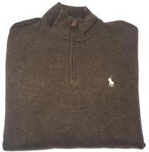 Polo Ralph Lauren Men's Half Zip French Rib Cotton Sweater Brown MU M L... - $69.95