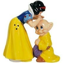 Disney's Snow White Kissing Dopey Ceramic Salt and Pepper Shakers Set NEW UNUSED - $26.11