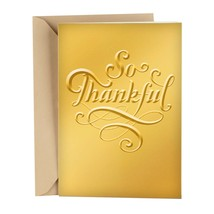 So Thankful Thanksgiving Card With Envelope - $4.99