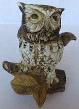 """Vintage Great Horned Owl Sculpture Figurine Porcelain 5"""" tall - $30.00"""