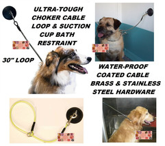 Dog Cat Grooming HOLD EM Stay&Wash Bath RESTRAINT SUCTION CUP&CHOKE LOOP... - $18.39
