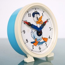 BAYARD DONALD DUCK Alarm Clock Disney Mantel 1972 Motion Animated Vintag... - $195.00