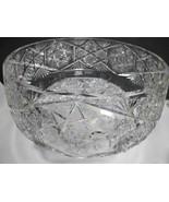 "American Brilliant Period Hand Cut Glass 12.5"" bowl Antique - $397.38"