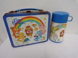 ORIGINAL Vintage 1984 Care Bears Metal Lunch Box w/ Thermos - $46.39