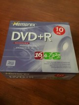 Memorex ~ DVD+R 10-Pack Recordable BLAND DVD = 16x / 4.7 GB / 120 Minute... - $10.00