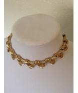 Vintage Coro Gold Tone Empress Clear Rhinestone Bead Choker Mod Necklace - $55.00