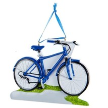 KURT S. ADLER POLYRESIN HAND PAINTED BLUE BICYCLE CHRISTMAS TREE ORNAMENT - $9.88