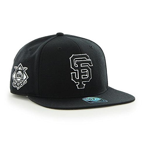 3302dc0fd667af San Francisco Giants MLB Black Sure Shot 47 Brand Captain Wool Snapback Hat  - $27.72
