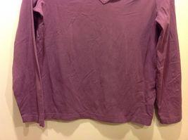Jones SPORT Purple V Neck Long Sleeve Top Sz XL image 3