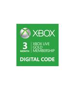 3-Month Microsoft Xbox 360/ONE Live Membership Gold Card code [DIGITAL] /n - $19.44