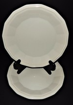 2 Homer Laughlin Classic White Colonial Dinner Plates 219986 Dover CW100 USA  - $29.69