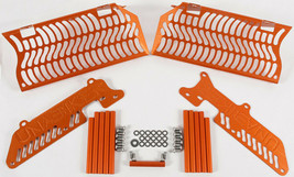 Radiator Guard (Orange) Unabiker Dirt Bike Armor 14KTM500-O - $114.95