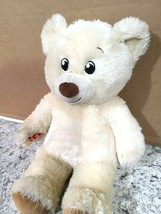 "Build A Bear BAB Lil' Vanilla Cub Tan Teddy Plush Stuffed Animal 15"" Toy - $18.57"
