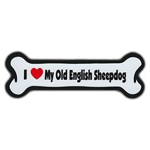 Refrigerator Magnet - Dog Bone - I Love My Old English Sheepdog (Sheep D... - €5,97 EUR