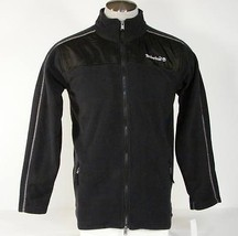 Timberland Signature Black Fleece Zip Front Jacket Boy's Size Extra Larg... - $49.49