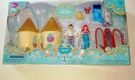 NIBDisney The Little Mermaid Ariel Prince Eric Max Flounder Mini Castle ... - $24.99
