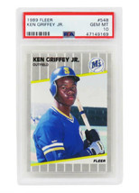 Ken Griffey Jr Mariners 1989 Fleer Baseball #548 RC Rookie Card -PSA 10 ... - $345.51