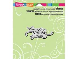 Stampendous Have a Whale of a Time Rubber Cling Sentiment Stamp #CRL270