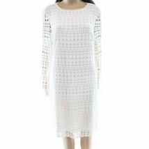 Lauren by Ralph Lauren Women's Geo-Lace Shift Dress White 6 - $21.28