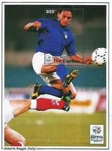 GAMBIA (AFRICA) 1996 FOOTBALL EURO CUP/ROBERTO BAGGIO (ITALY) S/S MNH SP... - $1.43