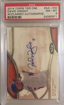2014 Topps Tier One Acclaimed #AA-DW David Wright 27/50 Autographed PSA ... - $38.69