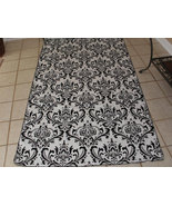 DAMASK AISLE RUNNER Traditions Black White Wedding Bridal 25 Feet long - $159.00