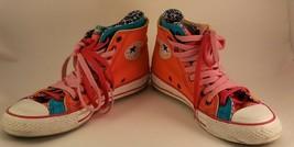Converse Chuck Taylor All Star Twinzo0211 Orange pink leopard teal doubl... - $1.690,88 MXN