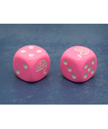 Custom Give Me the Brain Six-Sided Die (Pink w/White) - $2.00