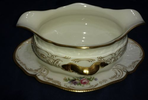 Primary image for Rosenthal DIPLOMAT Gravy Boat with Underplate Old Backstamp mint perfect gold