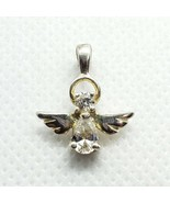 Sterling Silver 925 Dainty CZ Angel Pendant FREE Shipping - $14.99