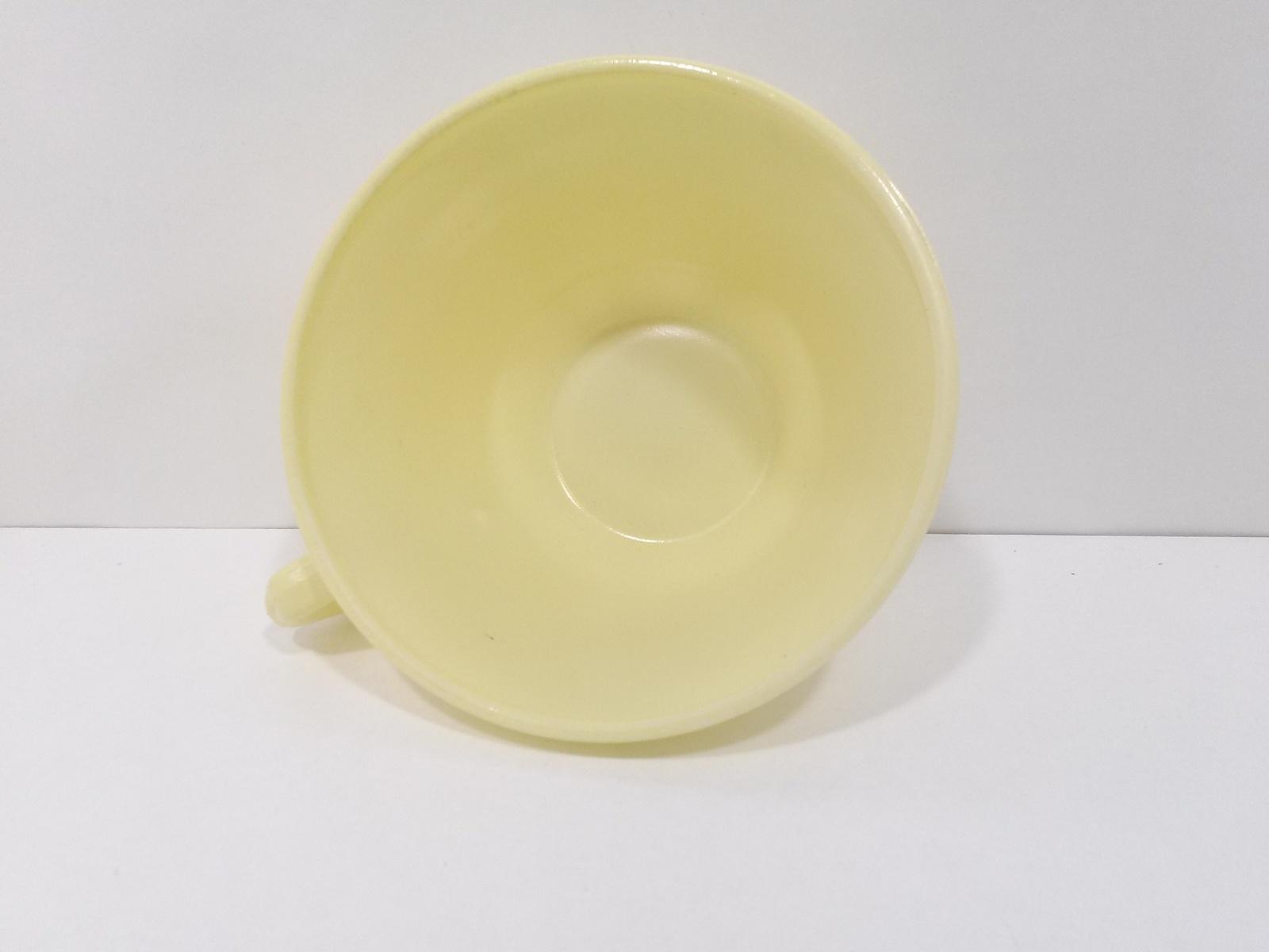 "Vintage Hazel Atlas Moderntone Tea Cup Pastel Yellow 2 1/2"" x  4"""