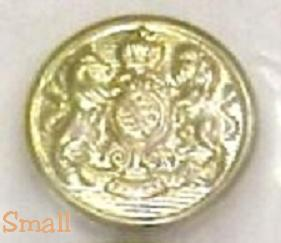 2 brass or gold plate horse lion buttons 2   sm