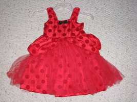 HARAJUKI MINI FOR TARGET RED TULLE POLKA DOT DRESS GWEN STEFANI EUC 4 4T - $24.44