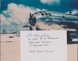 Fred Olivi-Nagasaki Co-Pilot signed card. Full info. Atomic Bomb. Free c... - $26.95
