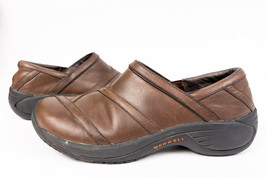 Merrell Encore Eclipse Smooth Bug Brown Womens Leather Slip on Loafers S... - $20.99