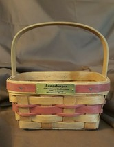 Longaberger 1987 Christmas Collection - THE MISTLETOE BASKET Red Accent ... - $9.99