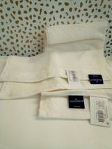 FIELDCREST 2Pc  Towel Set 100%Cotton 1 HAND Towel & 1 Washcloth -ALMOND CREAM- image 7