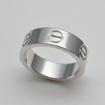 Cartier Love Ring K18WG White Gold US5 Used Excellent condition From Japan - $922.26