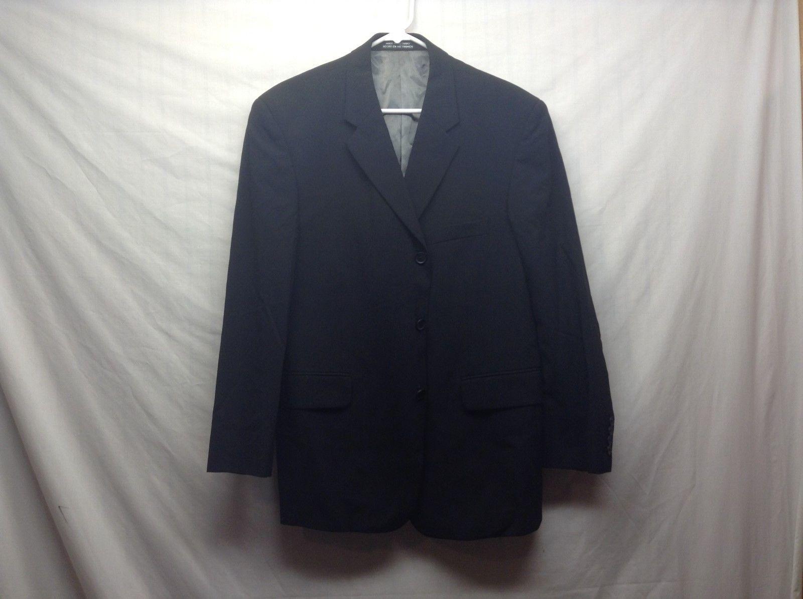 J. Ferrar Black Wool Suit Jacket