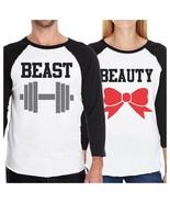 Beast And Beauty Matching Couples Baseball Shirts Funny Anniversary - $39.99+