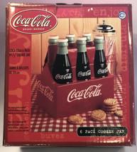 "Ceramic Cookie Jar - 6 Pack Coca Cola Brand New 9.5""  - $97.99"