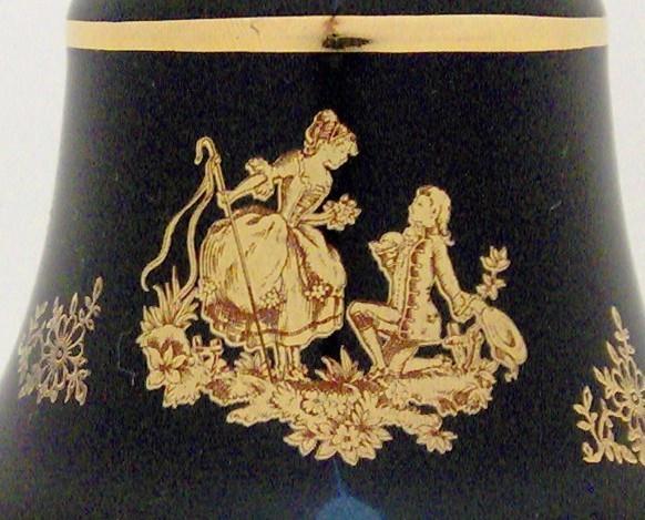 Decorative Porcelain Bell by Limoges Castel, France
