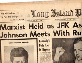 Long Island Press Newspaper Saturday, November 23, 1963 - $4.90