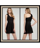 Juicy Couture Black One Shoulder Terry Dress Size P/O/XS NWT Retail $118 - $55.00