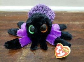 "Ty Beanie Boos - 6"" CREEPER the Black and Purple Spider - $9.74"
